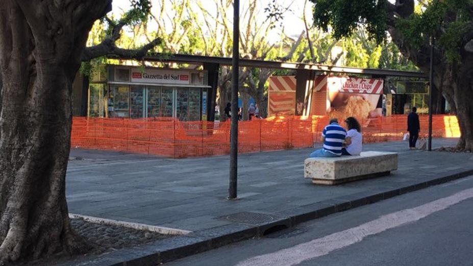 Nuovo cantiere Piazza Cairoli. Parte carreggiata chiusa