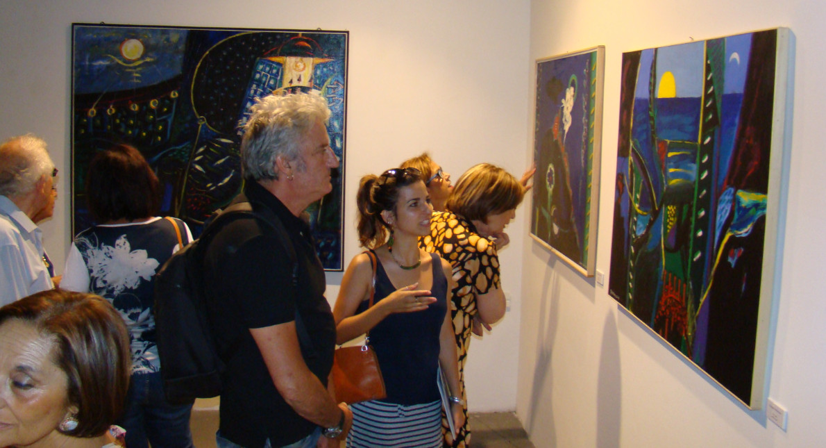 """""""Bluoltremare"""", mostra di Santoro visitabile da oggi al 18 luglio Galleria Barbera"""