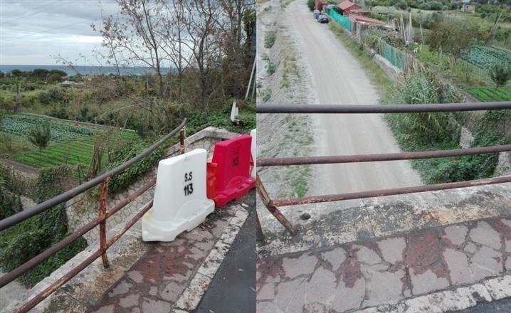 Ponte Gallo SS 113, rifacimento guardrail. Interpellati Anas e sindaco Villafranca