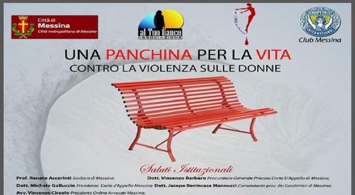 """""""Una panchina per la vita"""" prenderà forma domani contro violenza di genere"""