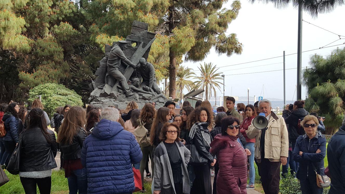"""""""Messina, la Città Nuova dal Liberty al Razionalismo"""", tappa con gli studenti dell'Antonello"""