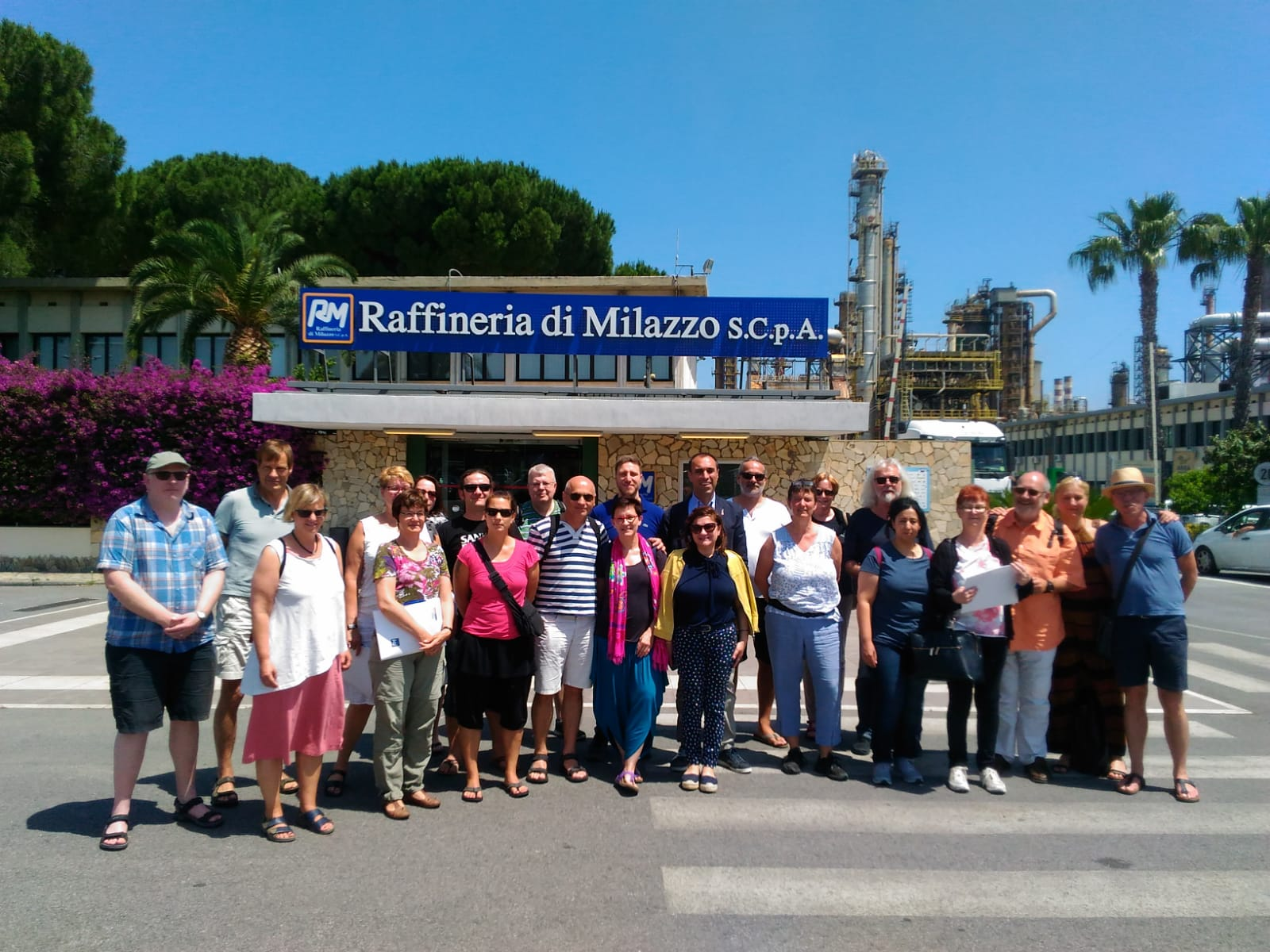 Milazzo, sindacato tedesco in visita alla raffineria per uno scambio costruttivo di idee