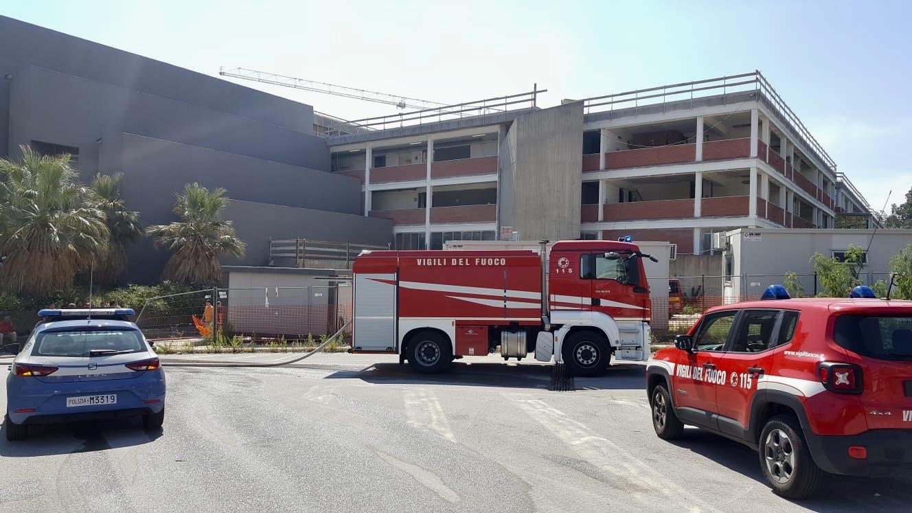 Papardo, domato incendio all'Università
