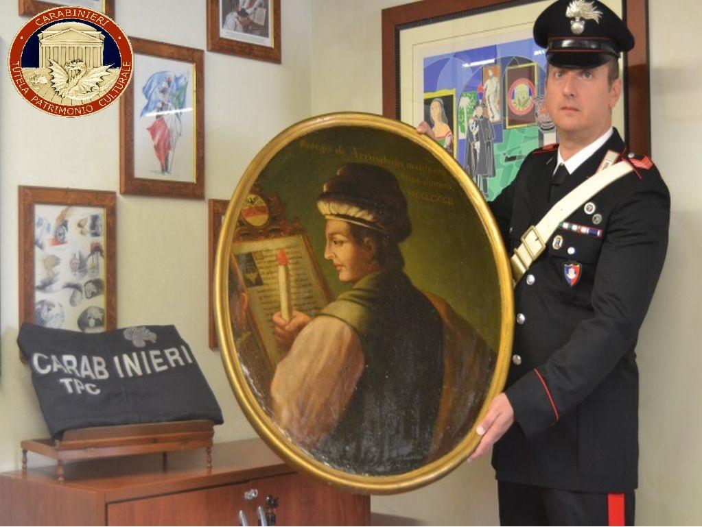 Dipinto del '700 recuperato in Veneto, messinese denunciato