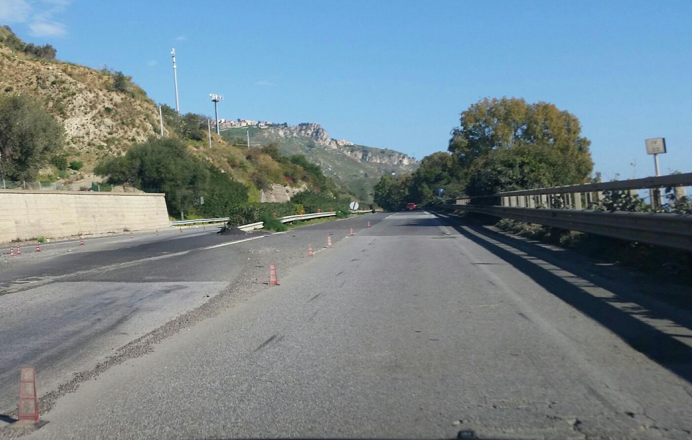 A18, nuova pavimentazione da Messina a Giardini