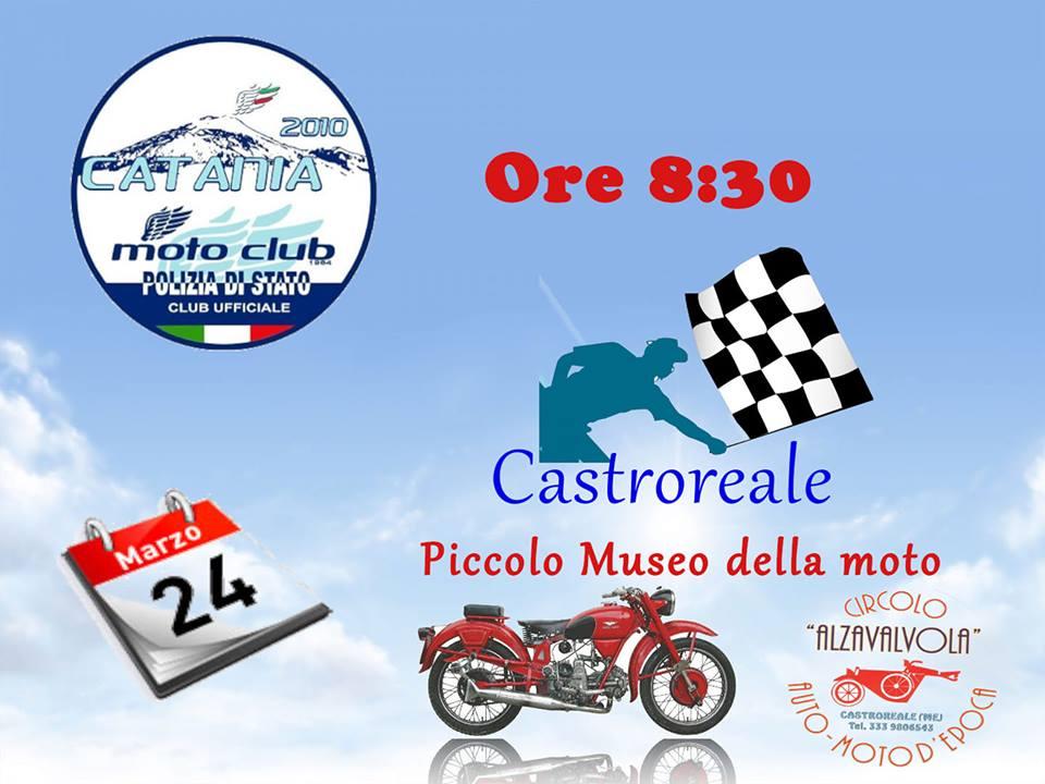 Il Moto Club Polizia di Stato di Catania in visita al Piccolo Museo  della Moto di Castroreale