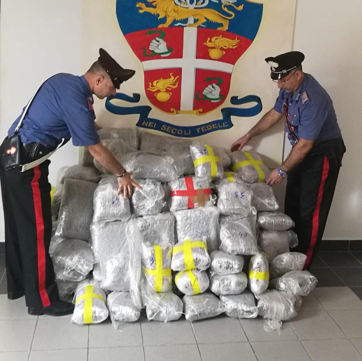 Terme Vigliatore, sequestrati 110 chili di marijuana