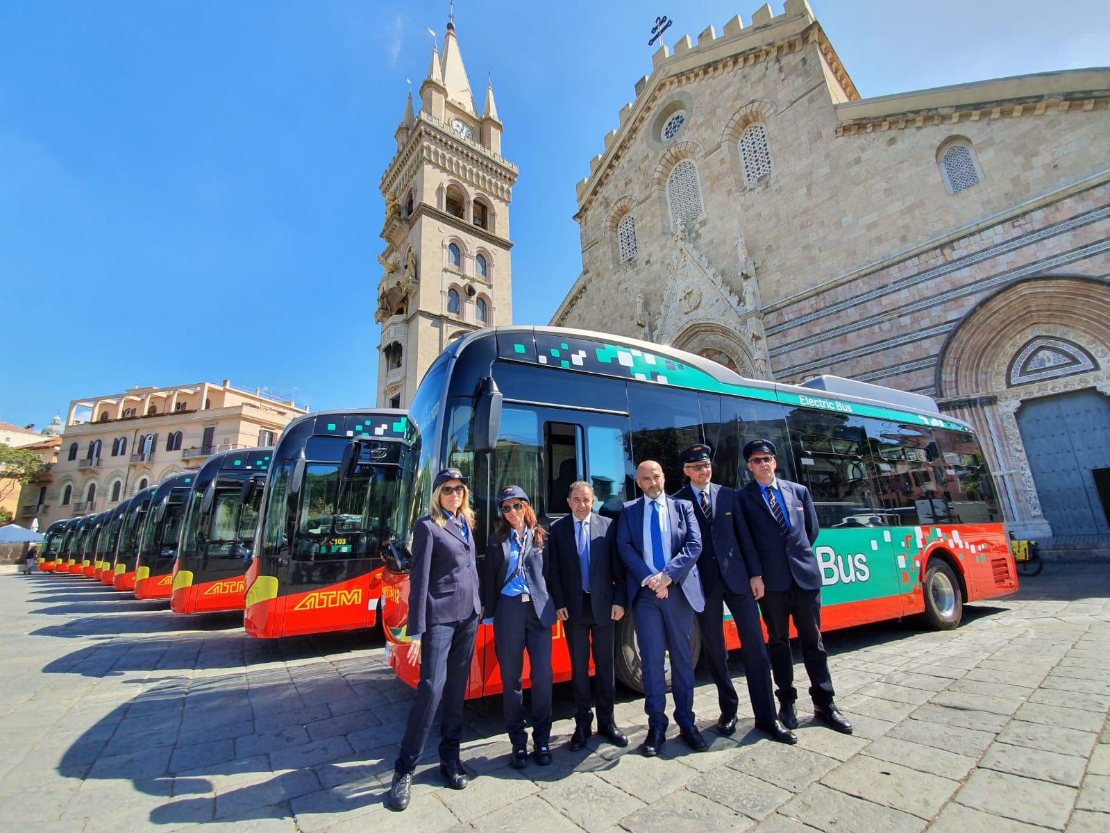 Atm e mobilità sostenibile, presentati 16 bus elettrici made in China