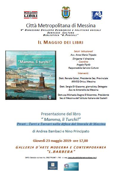 La Galleria Lucio Barbera ospita la presentazione del volume Mamma Li Turchi