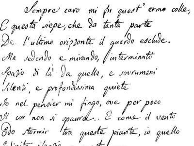 L'Infinito di Giacomo Leopardi compie 200 anni. Iniziative in tutta Italia