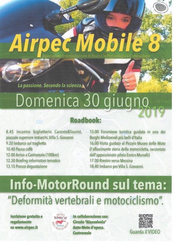 Castroreale: Airpec Mobile 8 in visita al Piccolo  Museo della Moto per parlare di deformità vertebrale e motociclismo