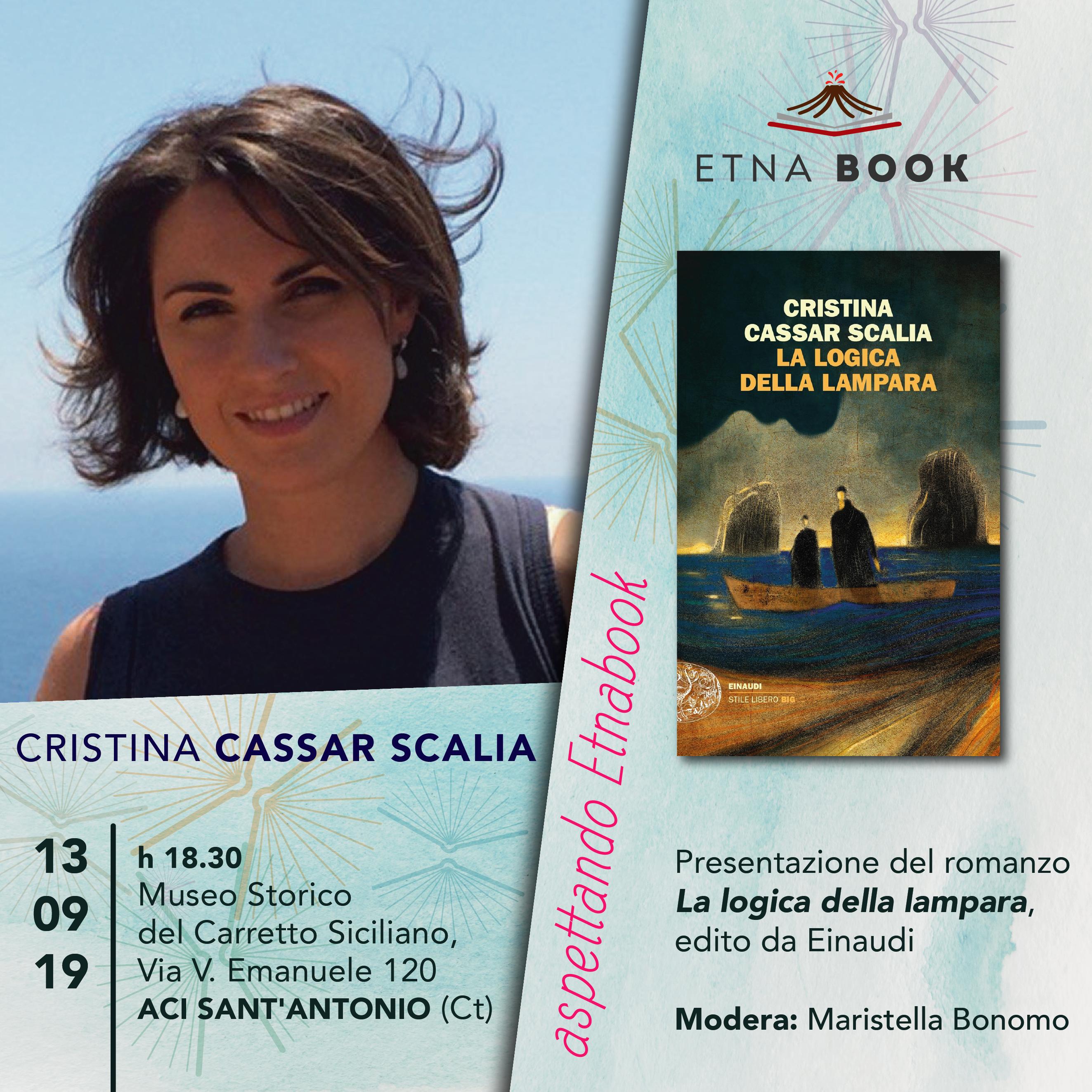 Aspettando Etnabook: la scrittrice Cristina Cassar Scalia presenta il romanzo dal titolo La logica della lampara