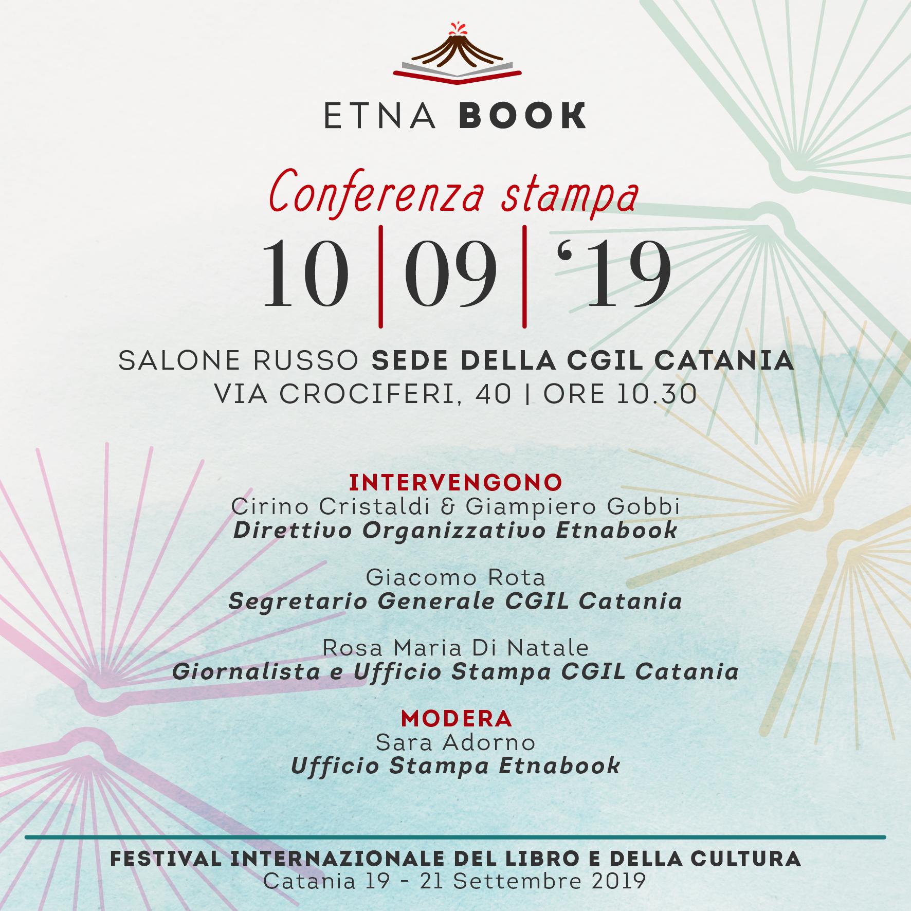 Al via la I° edizione di Etnabook. Martedì la conferenza stampa