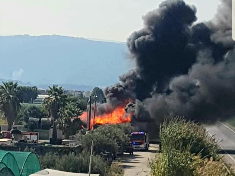 Terme Vigliatore, bobine elettriche in fiamme