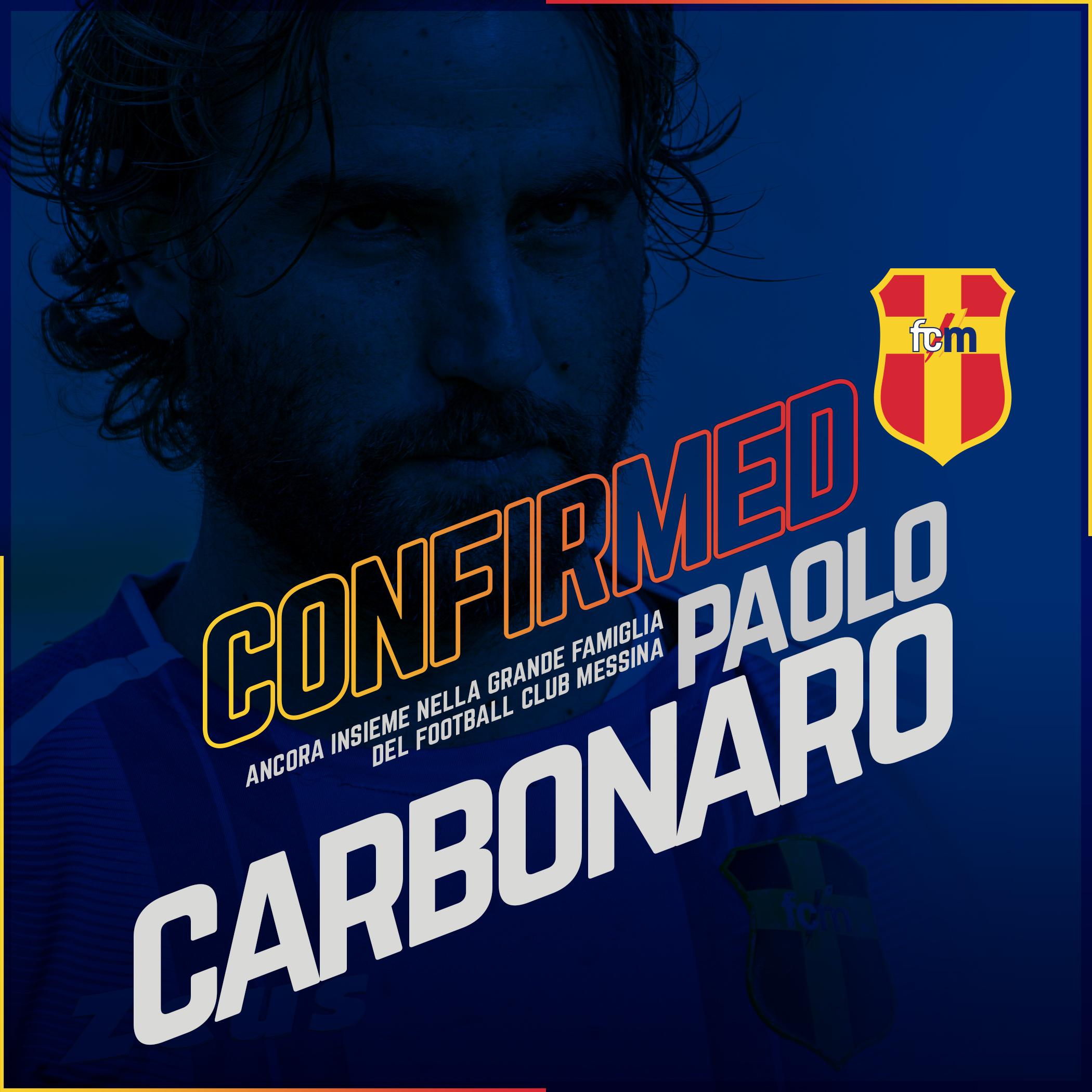 SERIE D – FC Messina: il bomber Paolo Carbonaro rinnova il contratto
