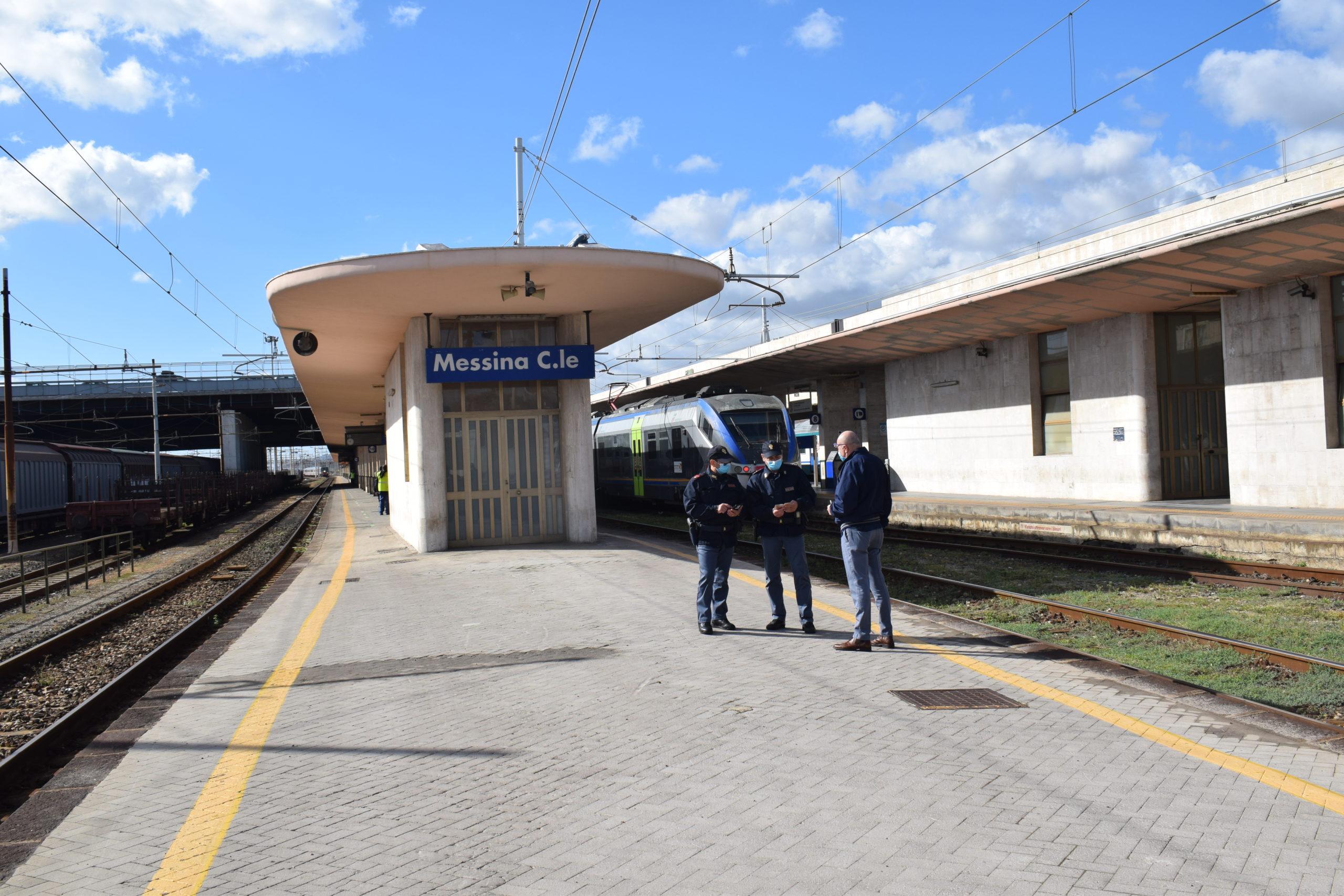Controlli Polfer, tre denunce tra Messina e Taormina