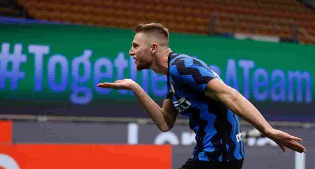 Skriniar piega l'Atalanta, Inter a +6 sul Milan