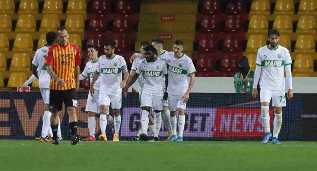 Il Sassuolo passa a Benevento, decide l'autogol di Barba