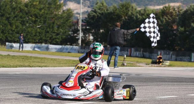 KARTING – Il messinese Angelo Lombardo cala il poker a Triscina