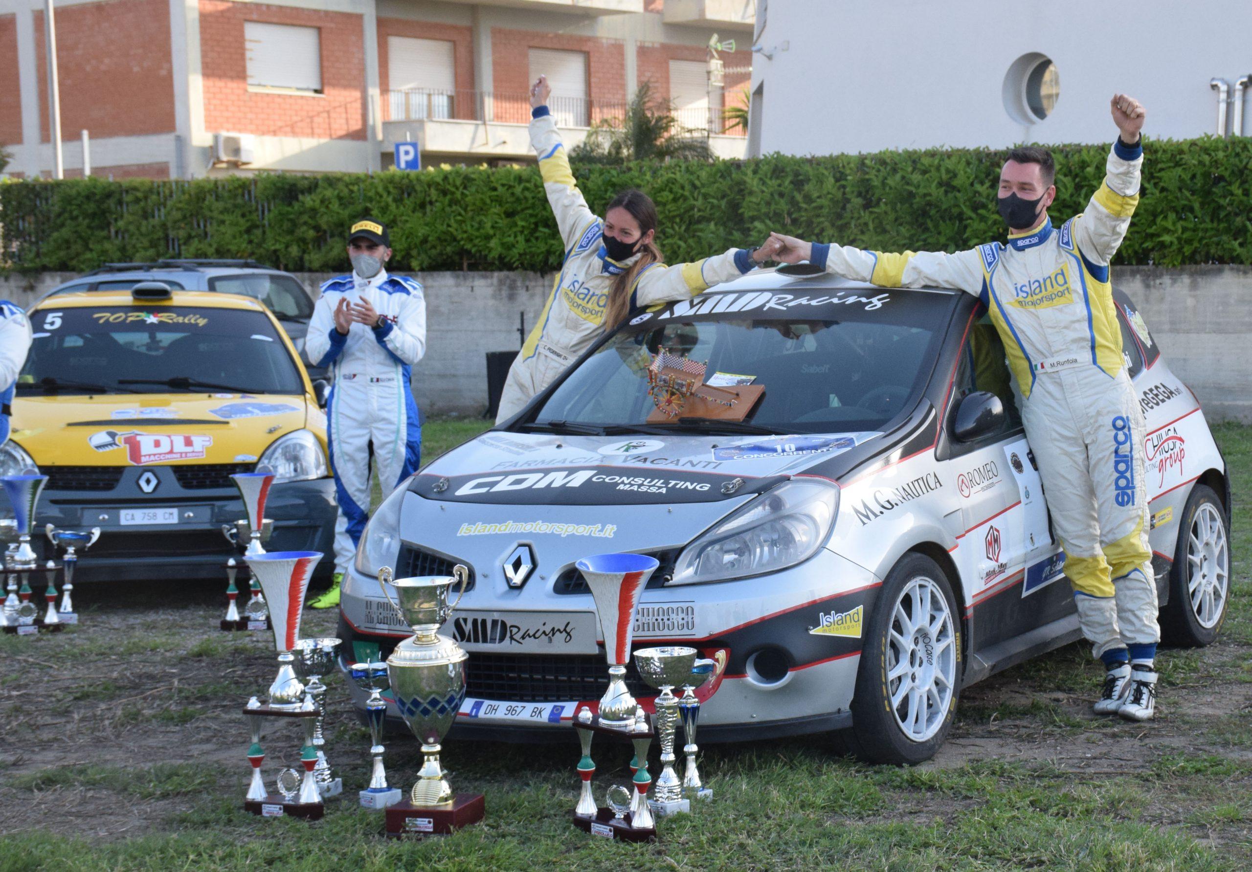 RALLY – Runfola-Federighi, su Renault Clio 3RC, si aggiudicano il 4° Rally di Cefalù