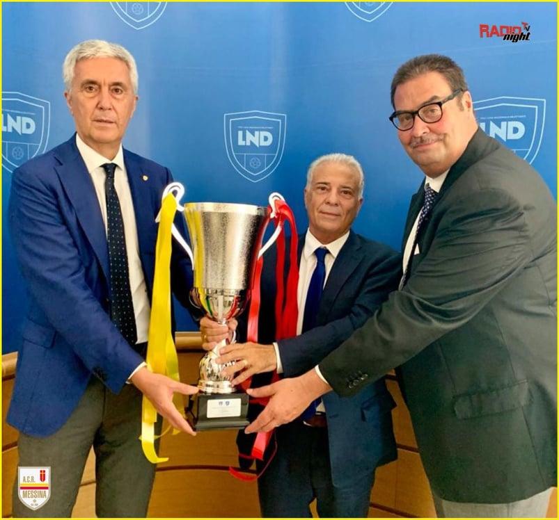CALCIO – Acr Messina premiata a Roma dal presidente Cosimo Sibilia